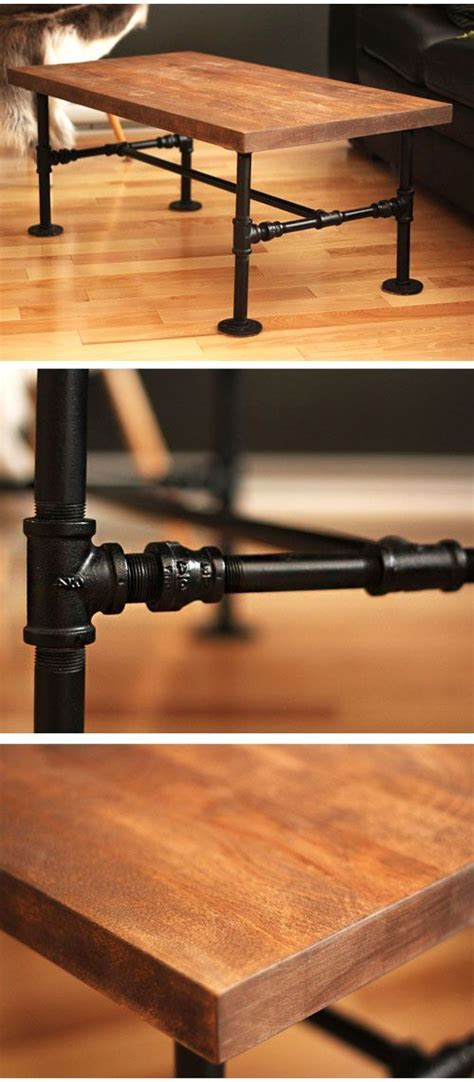diy iron pipe table legs diy black iron pipe table no tools only 1 screwdriver