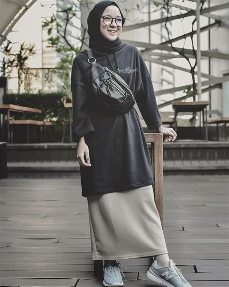style hijab casual simple kekinian remaja