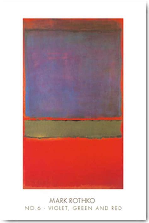 Rothko Kunstdruck by Rothko N 176 6 Violet Green And Kunstdruck