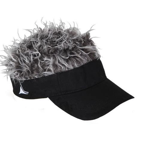 spiked grey hair hat flair hair visor hat golf gray grey wig cap spike goof