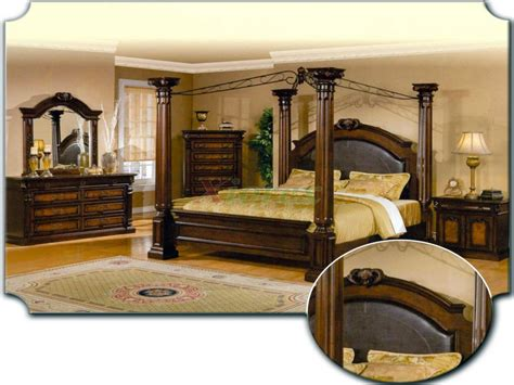 canopy bedroom set canopy bedroom sets reclaimed russian oak collection