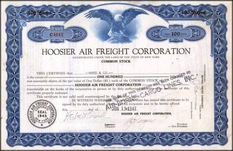 hoosier air freight corporation airborne cargo lines