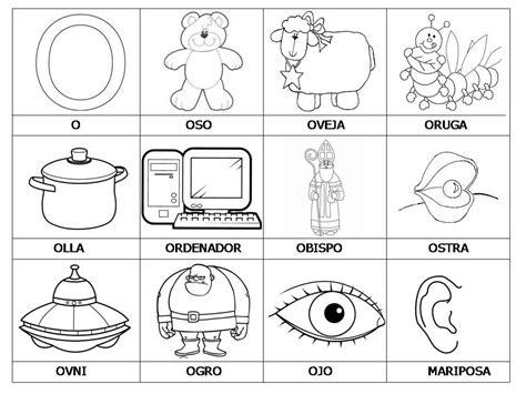imagenes y palabras con la letra o palabra con la letra o con imagenes para colorear imagui