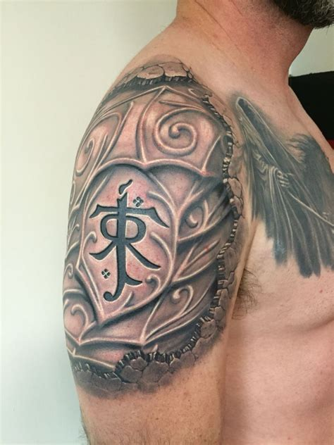 lord of the rings tattoo my finished lord of the rings jrr tolkien elvish armor