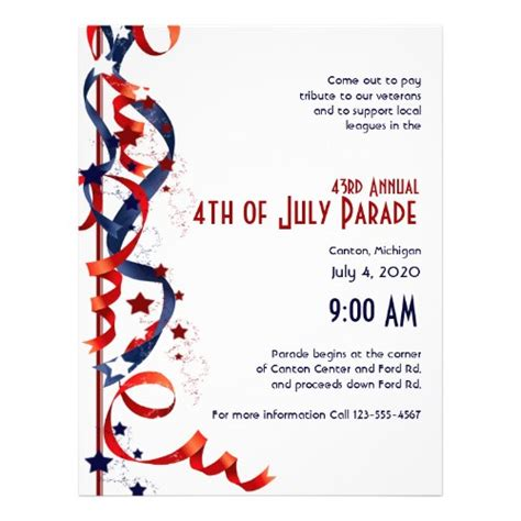 4th of july templates 8 best images of 4th of july flyers printable 4th of
