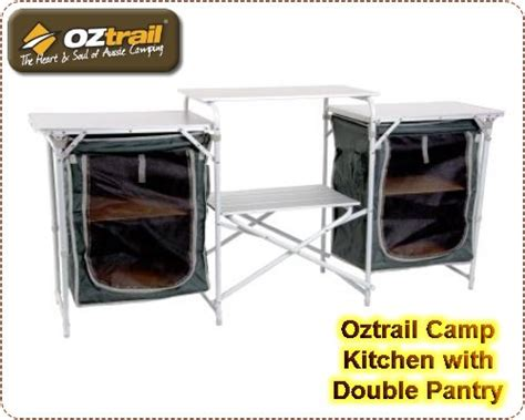 Furniture   OZtrail Camp Kitchen with Double Pantry was