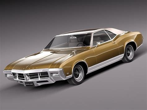 Buick Riviera 1969 3D Model .obj .3ds .fbx .c4d .lwo .lw
