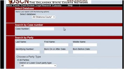 Records Search Oscn Homepage Oscn Search Oscn Net Oklahoma Court Records