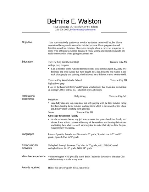 Sonogram Technician Sle Resume by Entry Level Freshers Ultrasound Technician Resume Exle Template