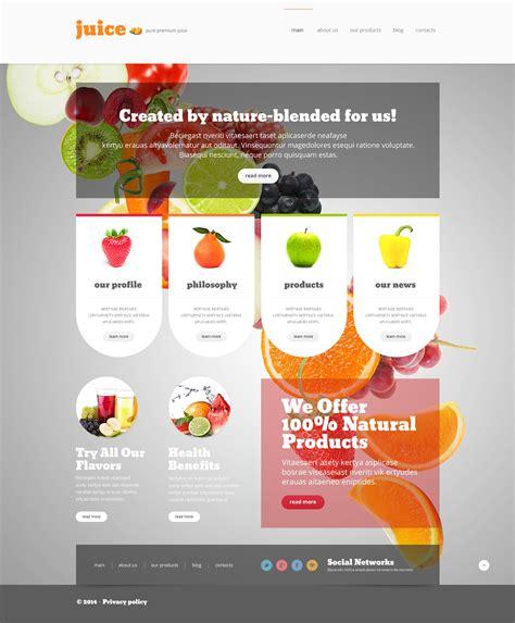 Healthy Eating Joomla Template 48261 Smoothie Website Template