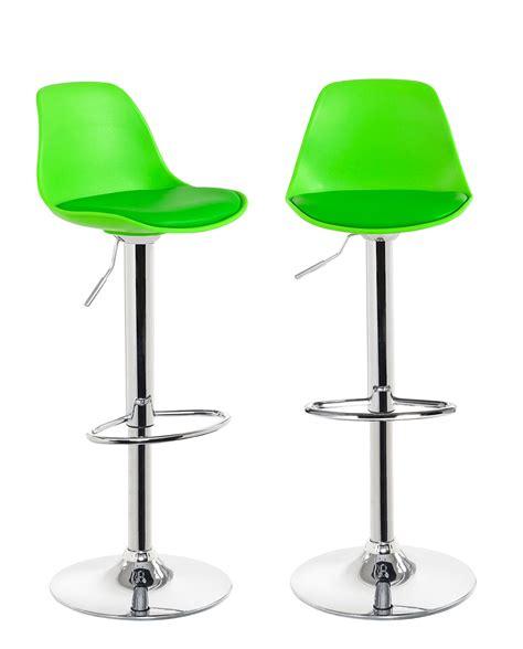 Tabouret Vert by Sig Lot De 2 Tabourets De Bar Design Vert Kayelles