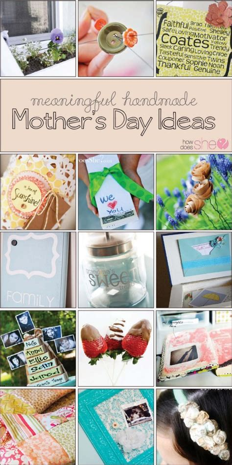 Handmade Mothers Day Gifts - meaningful handmade s day gift ideas