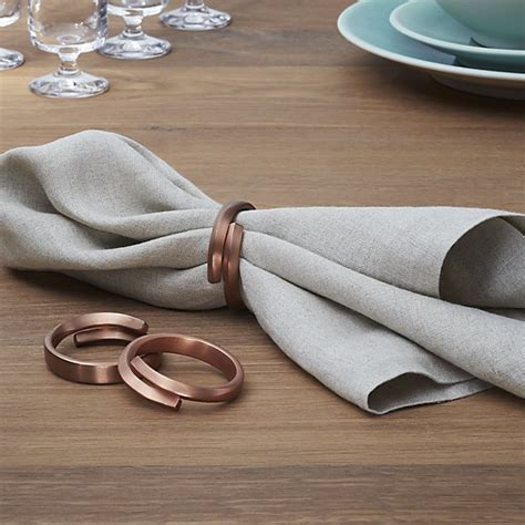 napkin rings table linens wrap copper napkin ring crate and barrel