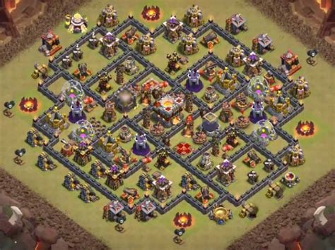 coc unique layout top 40 best town hall 10 bases 2017 war farming