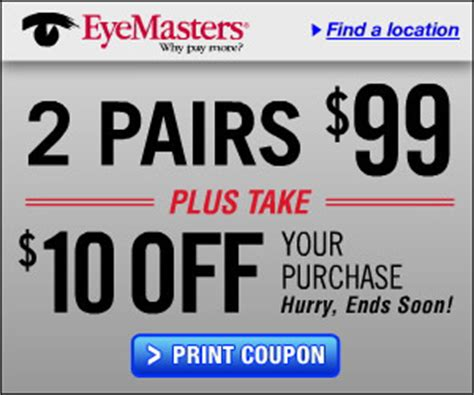wize eyes printable coupon eyemasters 10 off printable coupon a thrifty mom