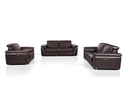contemporary leather reclining sofa contemporary brown leather sofa set w electric recliners