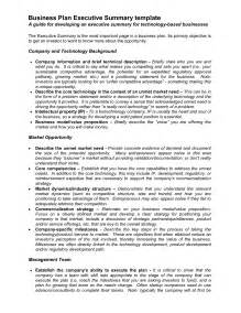 executive business plan template best photos of business plan executive summary exle