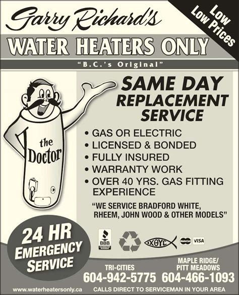 how to get insured and bonded for house cleaning garry richard s water heaters only abbotsford bc