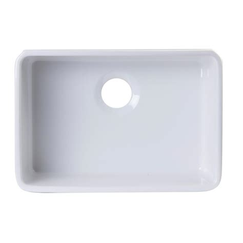 fireclay undermount kitchen sink alfi brand undermount fireclay 23 38 in l single bowl kitchen sink in white ab503um w the