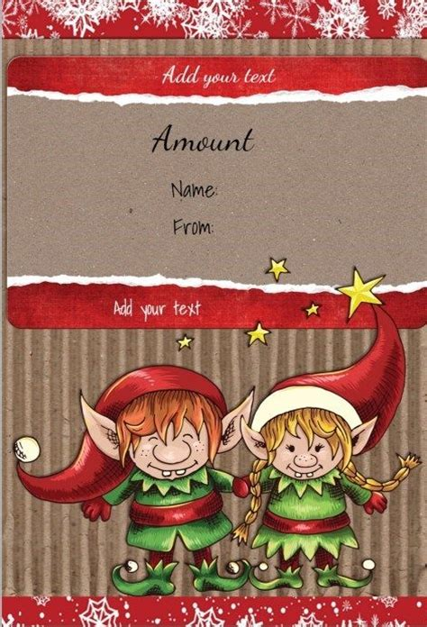 Printable Online Gift Cards - 17 best images about christmas gift certificates on pinterest free printable