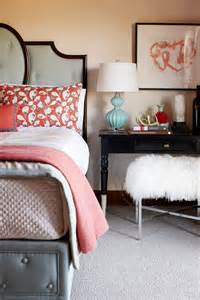 Coral Bedroom Ideas 30 Grey And Coral Home D 233 Cor Ideas Digsdigs