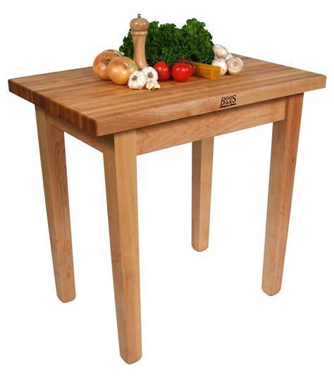 john boos country work table butcher block table