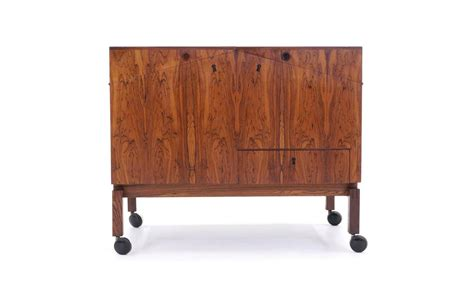 Portable Bar Cabinet Leif Alring Rosewood Portable Bar Cabinet Or Serving Cart For Sale At 1stdibs