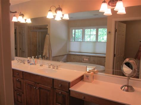 bathroom with makeup vanity single sink vanity with makeup area bathroom vanity with