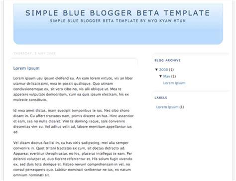 blogger simple template blogger templates myo kyaw htun com