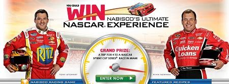 Nascar Sweepstakes - thrifty momma ramblings nabisco nascar ultimate experience sweepstakes