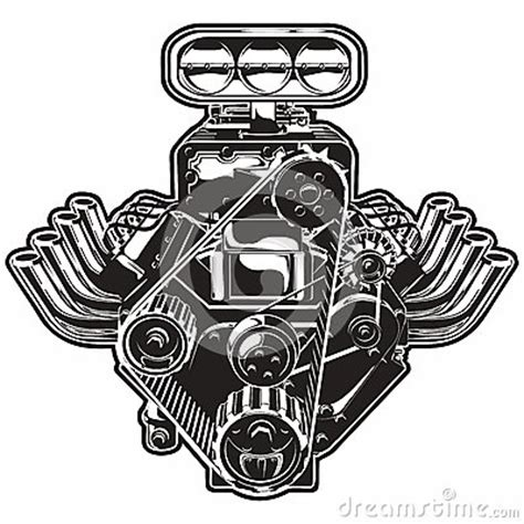 v8 engine clipart