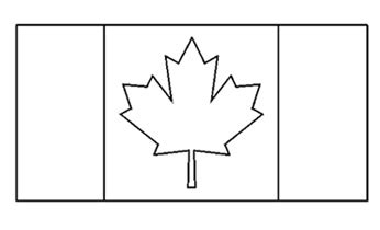 world flag templates canadian flag free printable colouring pages