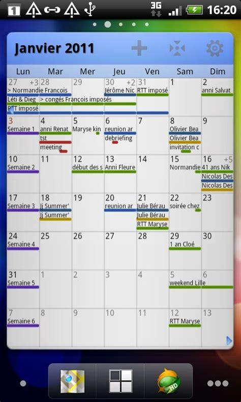 S Calendrier Android Grid Calendar Widget Aplicaciones De Android En