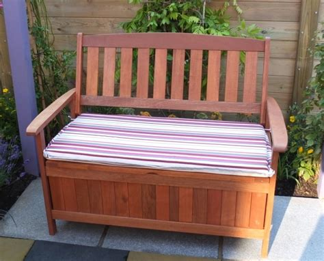 outdoor storage bench   water based wood