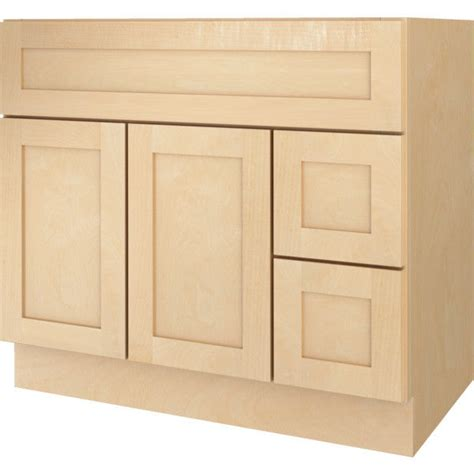 Bathroom Vanity Base Cabinets by New Bathroom Vanity Drawer Base Cabinet Maple Shaker 36 Quot Wide X 21 Quot Ebay