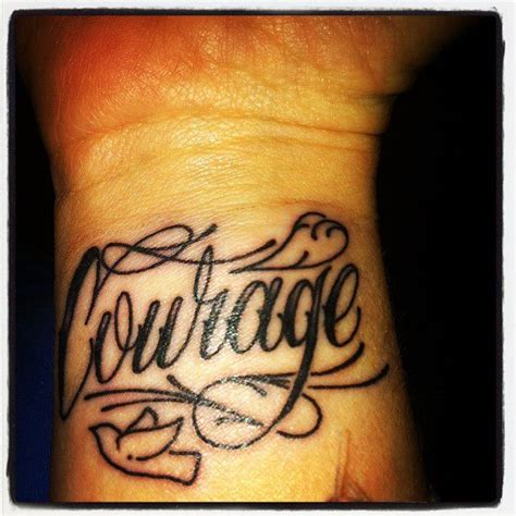 courage tattoos on wrist courage aries tattoos pictures to pin on