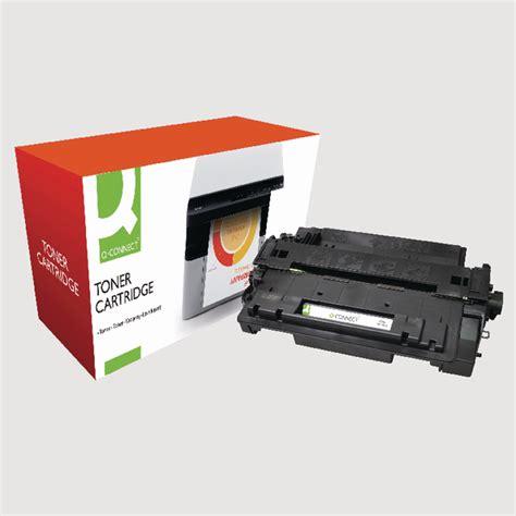 Toner Hp 55a Black q connect hp 55a reman black laserjet toner cartridge ce255a