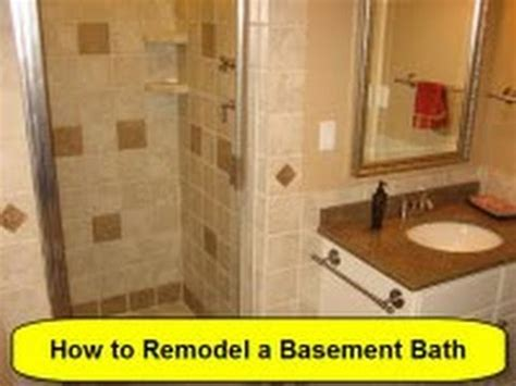 how to renovate a basement yourself how to remodel a basement bath part 1 of 3 howtolou