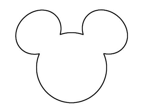 Mickey Mouse Head Outline Haydanhthoigian Net Mickey Ear Template