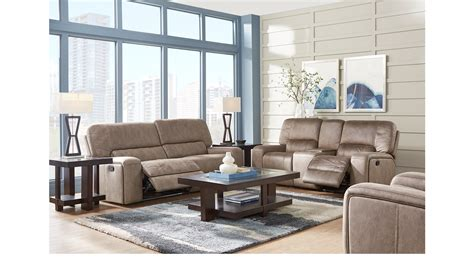 7 Pc Living Room Set 2 149 99 Bluff Springs Brown 7 Pc Reclining Living Room Contemporary Polyester