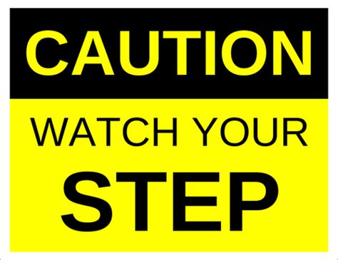 Caution Watch Your Step Label Label Templates Warning Labels Ol175 Onlinelabels Com Caution Label Template