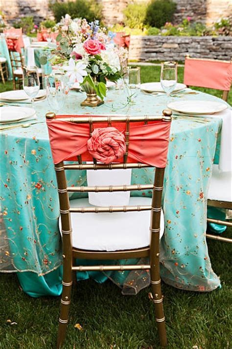 Vintage wedding coral and tiffany blue!:: retro wedding