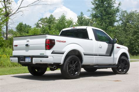 The 2014 Ford F 150 Tremor review vehicle includes many
