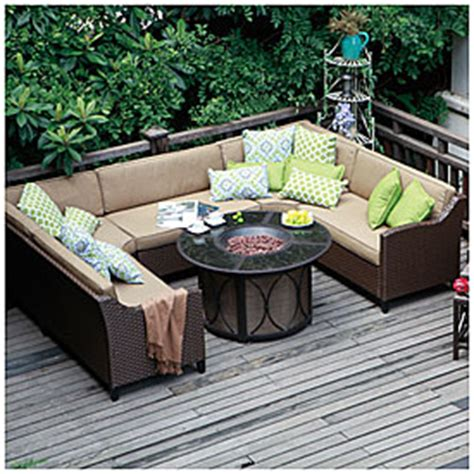 wilson and fisher wicker patio furniture view wilson fisher 174 riviera resin wicker armless sofa