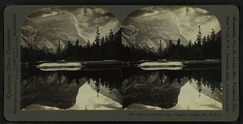 mirror lake california stereoscopic view number