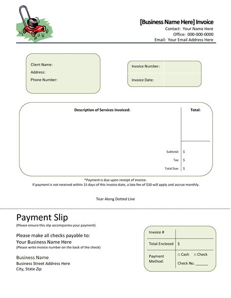 download invoice template landscaping rabitah net