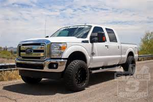 lifted 2015 f250 white maxi truck