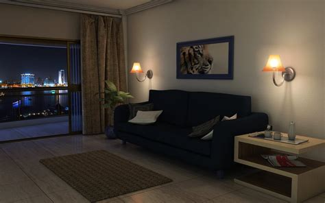 living room club basic night livingroom by twinshock on deviantart