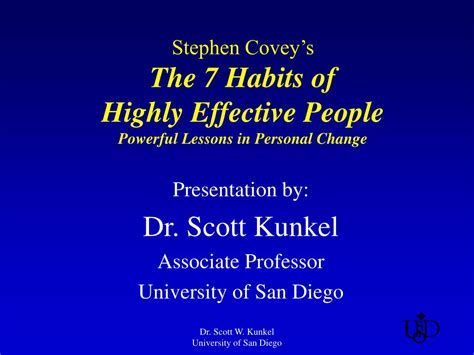 The 7 Habits Of Highly Effective By Stephen Rcovey ppt stephen covey s the 7 habits of highly effective