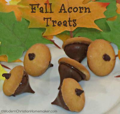 quick and easy fall acorn treats modern christian homemaker